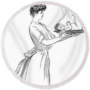 Gibson: Woman, 1903 Round Beach Towel