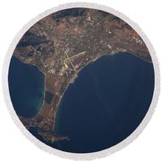 Giens Peninsula, France Round Beach Towel
