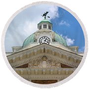 Giles County Courthouse Details Round Beach Towel