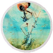 Giovanni Borelli Underwater Round Beach Towel by Science Source