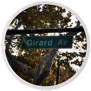 Girard Avenue In Philadelphia Round Beach Towel