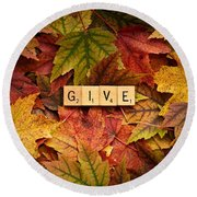 Give-autumn Round Beach Towel