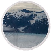 Glacial Panorama Round Beach Towel