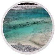 Glacial Pool Inn South New Zealand Round Beach Towel