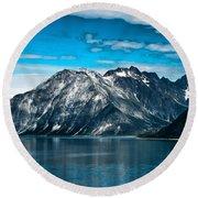 Glacier Bay Alaska Round Beach Towel
