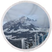 Glacier Bay In Its Majesty Round Beach Towel