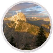 Glacier Point Glow Round Beach Towel