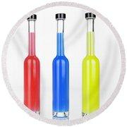 Glass Bottles Round Beach Towel