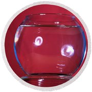 Glass Bowl Before Impact 1 Of 3 Round Beach Towel