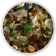 Glass Chips Round Beach Towel
