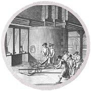 Glass Manufacture, 1751 Round Beach Towel