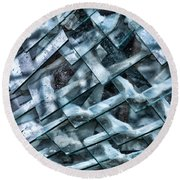 Glass Scales Round Beach Towel