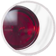 Glass With Red Wine Round Beach Towel