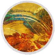 Glassworks Series-multicolor I Round Beach Towel