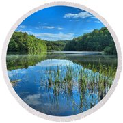 Glassy Waters Round Beach Towel