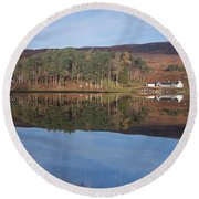 Glen Affric Reflections Round Beach Towel