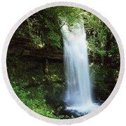 Glencar Waterfall, Yeats Country, Co Round Beach Towel