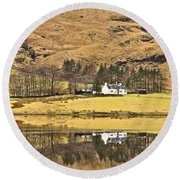 Glencoe Cottage II Round Beach Towel