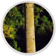 Glendalough, Co Wicklow, Ireland Round Round Beach Towel