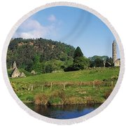 Glendalough, Co Wicklow, Ireland Saint Round Beach Towel