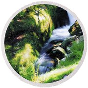 Glendalough, Co Wicklow, Ireland Round Beach Towel