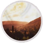 Glendalough, County Wicklow, Ireland Round Beach Towel