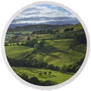 Glenelly Valley, County Tyrone Round Beach Towel