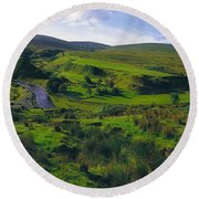 Glenelly Valley, Sperrin Mountains, Co Round Beach Towel