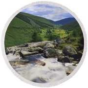 Glenmacnass, County Wicklow, Ireland Round Beach Towel