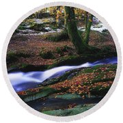 Glenmacnass Waterfall, Co Wicklow Round Beach Towel
