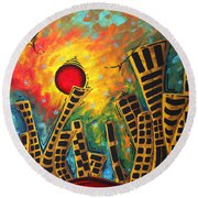 Glimmer Of Hope By Madart Round Beach Towel