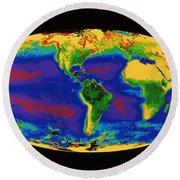 Global Biosphere Round Beach Towel