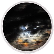 Glorious Gibbous - Wide Version Round Beach Towel