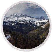 Glorious Mount Rainier Round Beach Towel