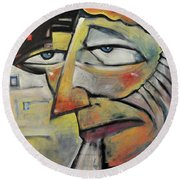 Glum Round Beach Towel