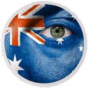 Go Australia Round Beach Towel