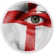 Go England Round Beach Towel
