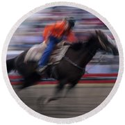 Rodeo Go For Broke Round Beach Towel