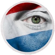 Go Luxembourg Round Beach Towel by Semmick Photo