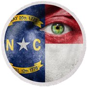 Go North Carolina Round Beach Towel