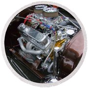1938 Ford Roadster Go Power Round Beach Towel