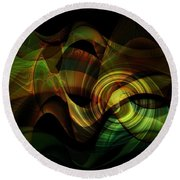Go With The Flow Round Beach Towel