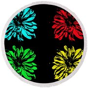 Godess Pop Art Round Beach Towel