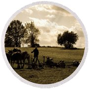 God's Country Round Beach Towel