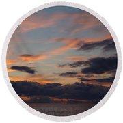 God's Evening Painting Round Beach Towel