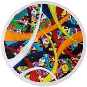 Going In Circles Round Beach Towel