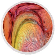 Going With The Flow Round Beach Towel