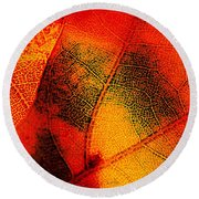 Gold And Green Round Beach Towel