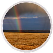 Gold At The End Of The Rainbow Round Beach Towel