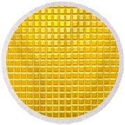 Gold Background Round Beach Towel
